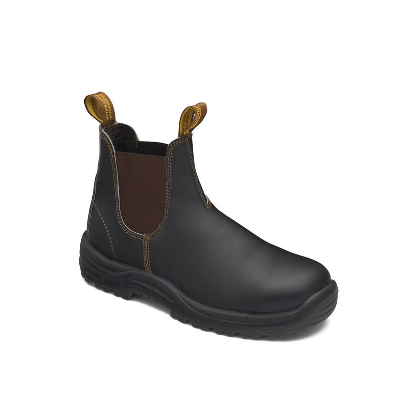 Blundstone Premium Oil-Tanned Leather Elastic Side Safety Boot Brown 172