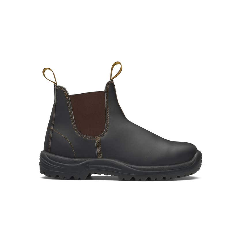 Blundstone 172 Premium Oil-Tanned Leather Elastic Side Safety Boot Brown