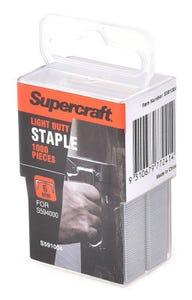 Supercraft 6mm Heavy Duty Staples 1000 Pieces