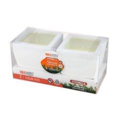 Waxworks Citronella Tuscan Pot Candles