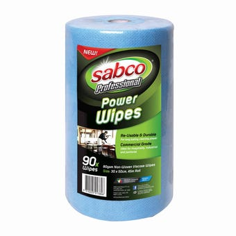 Sabco Power Wipes - 90 Roll