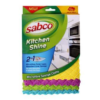 Sabco Kitchen Shine Microfibre Sponge Cloth