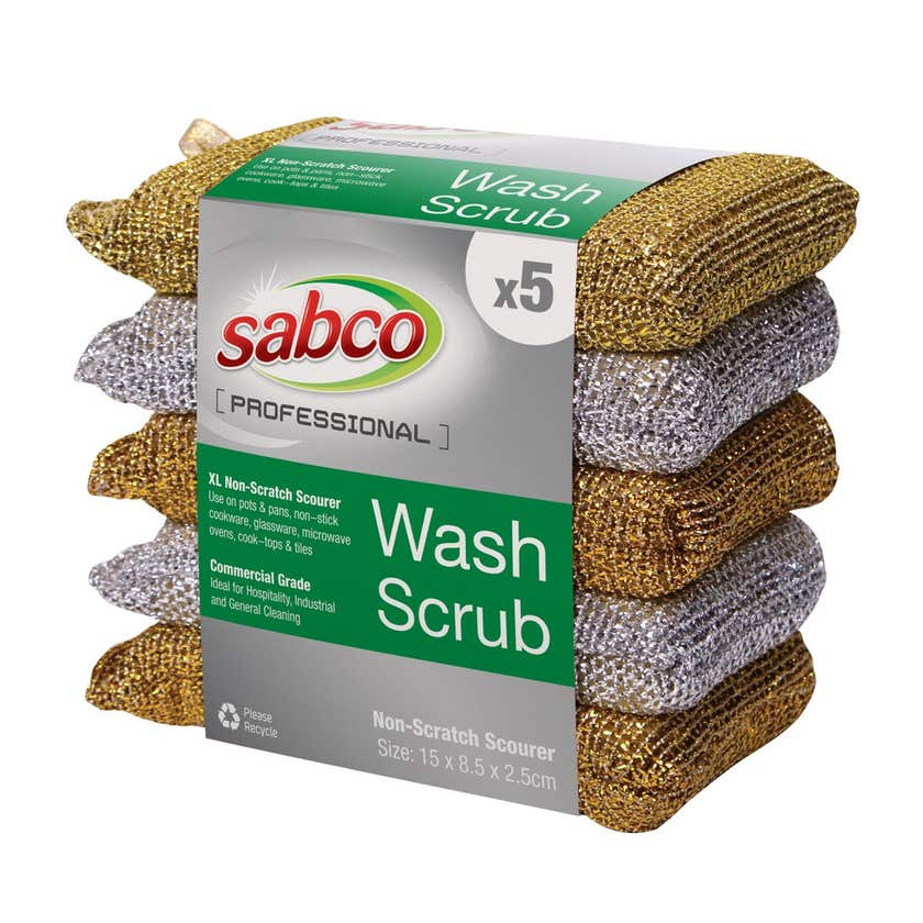 Sabco Professional Wash Scrubs - 5 Pack