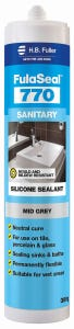 HB Fuller Silicone Fulaseal 770 Sanitary Mid Grey 300g