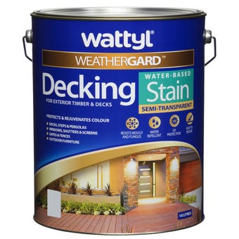 Weathergard Water Based Decking Stain New Charcoal 10L
