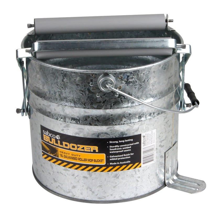 Sabco Bulldozer Galvanised Roller Mop Bucket 12L