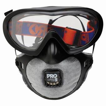 ProChoice Filterspec Pro Goggle & Mask Combo P2+Valve+Carbon