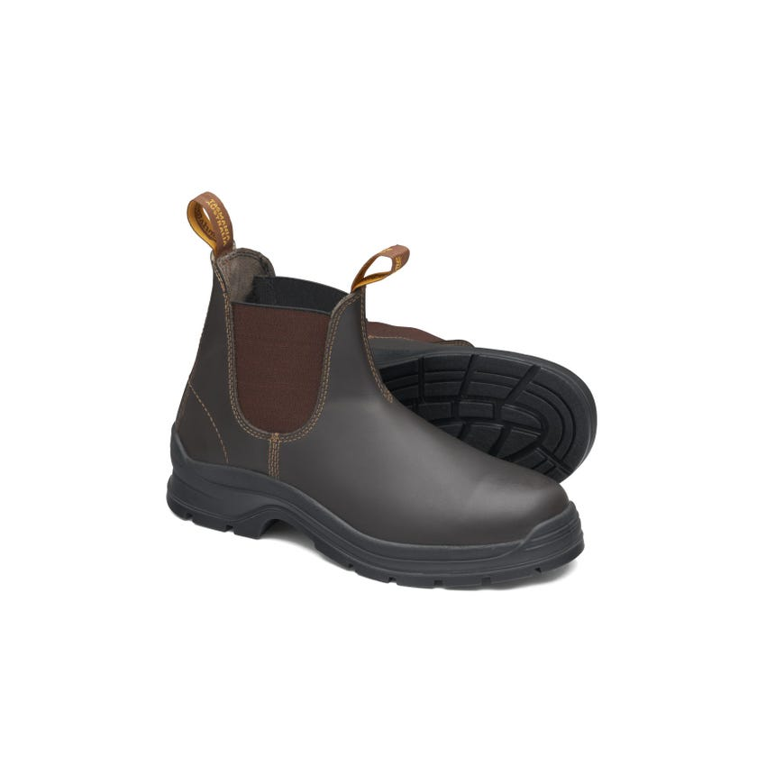 Blundstone Waxy Leather Elastic Side Non-Safety Boot Brown 405