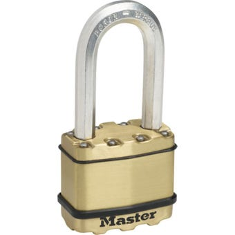 Master Lock Excell Padlock Long Shackle 50mm