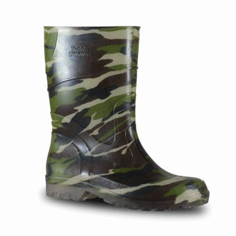 Bata Bubblegummer Gumboot Green Camo