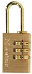 Master Lock Padlock Brass Combo 20mm