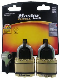 Master Lock Excell Padlock 50mm 2 Pack