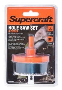 Supercraft Holesaw Cutter 6 Pieces 9mm