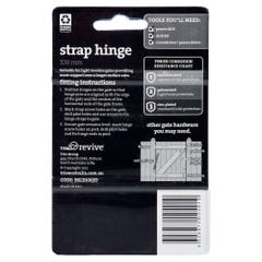 Trio Strap Hinge Zinc Plated 100mm - 2 Pack