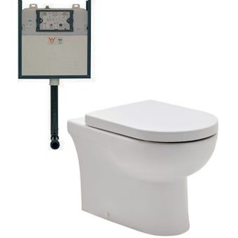 Johnson Suisse Life Econoflush In-wall Cistern Suite