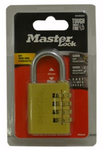 Master Lock Brass Combination Padlock 40mm