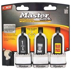 Master Lock Magnum Laminated Padlock 3 Pack 45mm