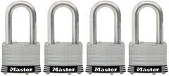 Master Lock Stainless Steel Laminated Padlock 4 Pack