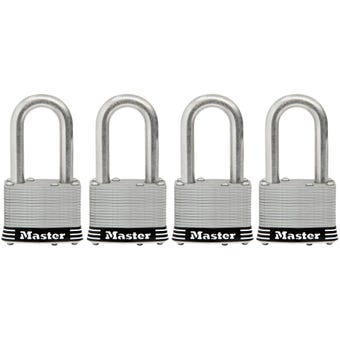 Master Lock Stainless Steel Laminated Padlock 4 Pack