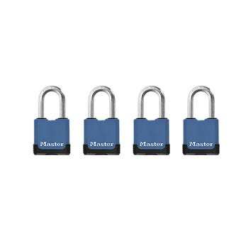 Master Lock Excell Laminated Cover Padlock 4 Pack 45mm