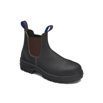 Blundstone Water-Resistant Leather Elastic Side Safety Boot Brown 140