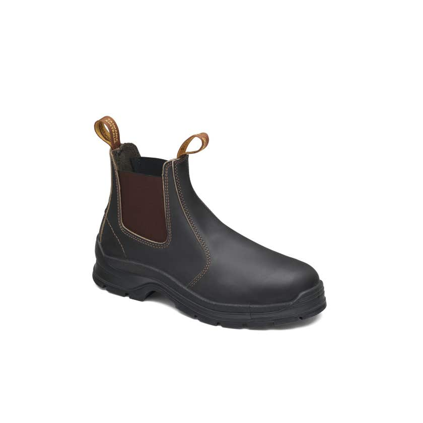 Blundstone 400 Leather Elastic Side Non-Safety Boot Brown