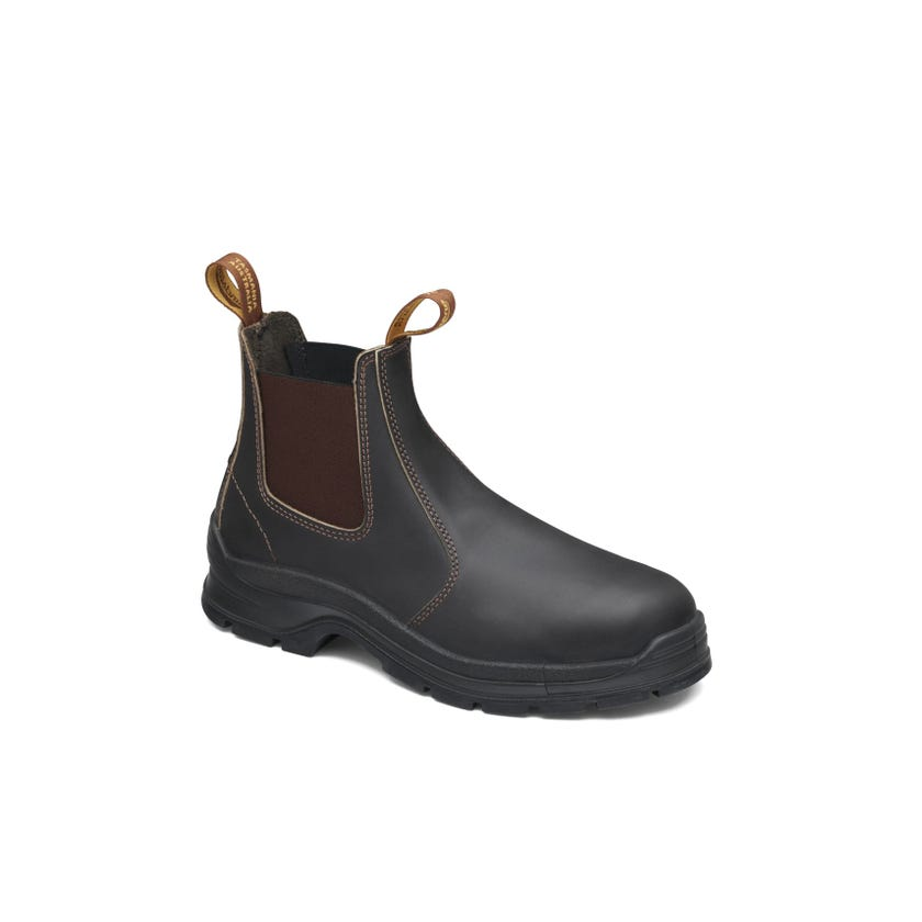 Blundstone Leather Elastic Side Non-Safety Boot Brown 400
