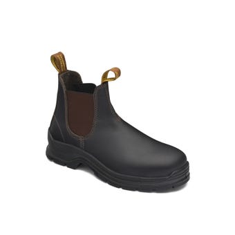 Blundstone Leather Elastic Side Safety Boot Brown 311
