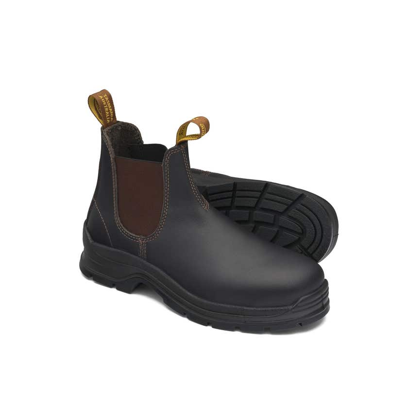 Blundstone 311 Leather Elastic Side Safety Boot Brown