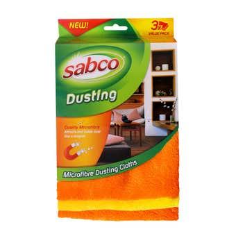 Sabco Microfibre Dusting Cloth - 3 Pack