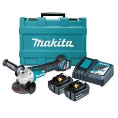 """Makita 18V Brushless Angle Grinder Kit 125mm (5"""") DGA511RTE"""