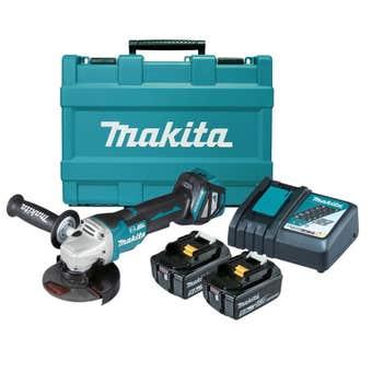 """Makita 18V Brushless Angle Grinder Kit 125mm (5"""") DGA517RTE"""