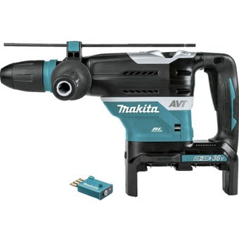 Makita 36V (18V x 2) Brushless AWS SDS Max Rotary Hammer Skin 40mm