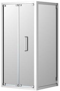 Corsica Shower Screen Bi-Fold LH Door Set 900 Chrome