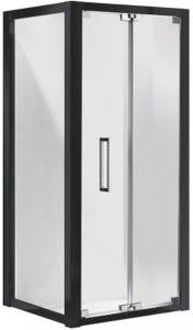 Corsica Shower Screen Bi-Fold LH Door Set 900 Black