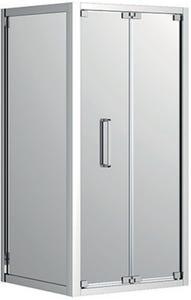 Johnson Suisse Corsica Bi-Fold Shower Screen LH Door Set Chrome 1000mm