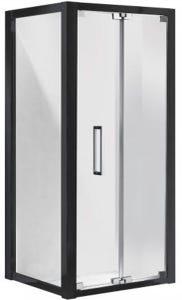 Corsica Shower Screen Bi-Fold LH Door Set 1000 Black