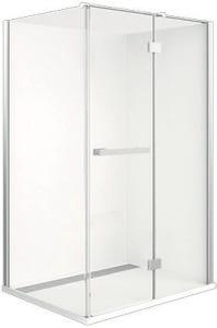 Johnson Suisse  Barossa Pivot Semi-Frameless Shower Screen Front Panel 1220mm