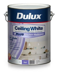Dulux Ceiling White Plus Kitchen And Bathroom 10L