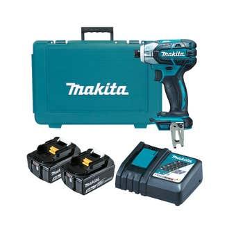 Makita 18V Brushless Oil-Pulse Impact Drill Driver Kit DTS141RTE