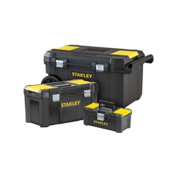 Stanley Essentials Rolling Chest with 2 Toolbox Combo