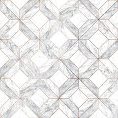 Contour Marble Marquetry Grey Wallpaper 10x0.52m