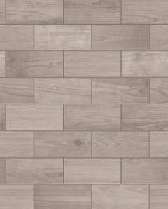 Contour Wooden Tile Brown Wallpaper 10x0.52m
