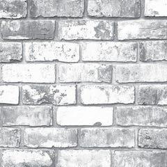 Superfresco Easy White Brick Wallpaper 10x0.52m