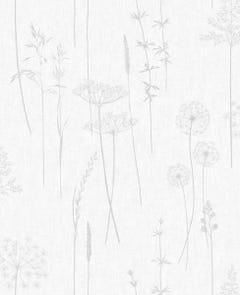 Superfresco Easy Meadow Silver Wallpaper 10x0.52m
