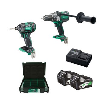 HiKOKI 18V MV 2 Piece Brushless Combo Kit KC18DBDL(HRZ)