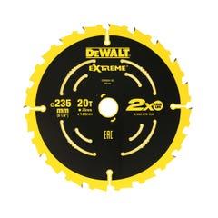 DeWalt Extreme Circular Saw Blade 20T 124mm