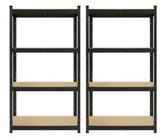4 Tier Garage Shelving Unit 100kg Rating 1500 x 800 - 2 Pack