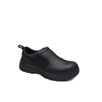 Blundstone Women's Water-Resistant Leather Slip On Safety Shoe Black 886
