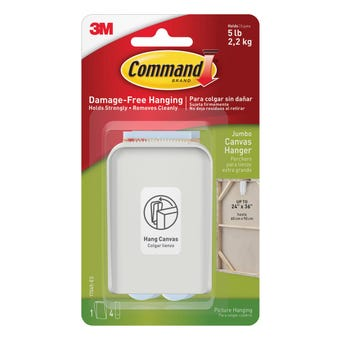 Command Adhesive Canvas Hanger White Jumbo - 1 Pack